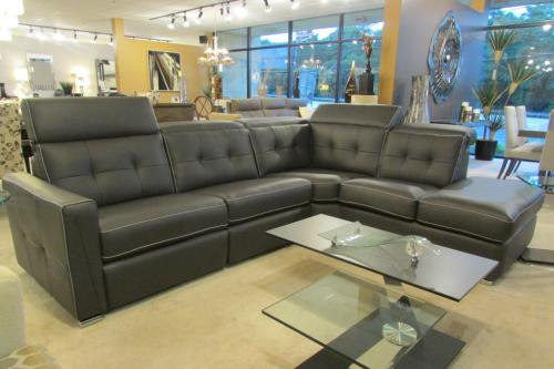 3 Pc. Leather Sectional With Motion
