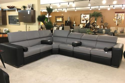 5 Pc. Leather Sectional With Incliners