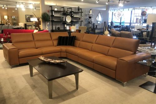 5 Pc. Italian Leather Sectional With Motion