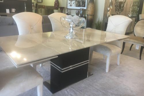 Marble Extension Dining Table