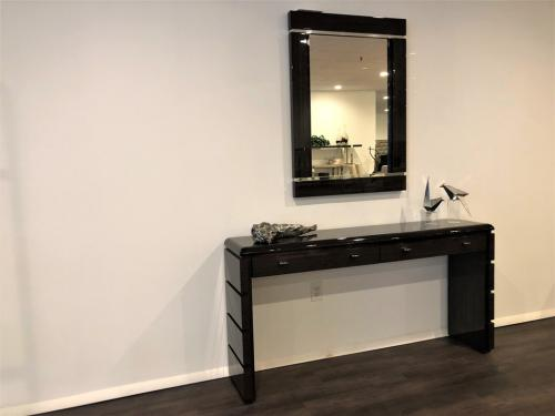 Wood Mirror & Console